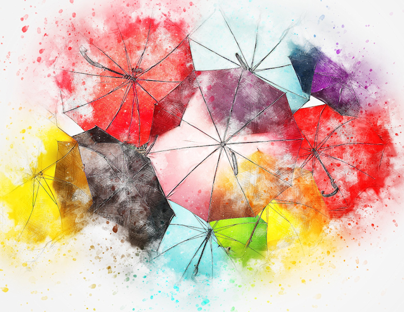 Umbrella in illustration format of the various categories of MG
